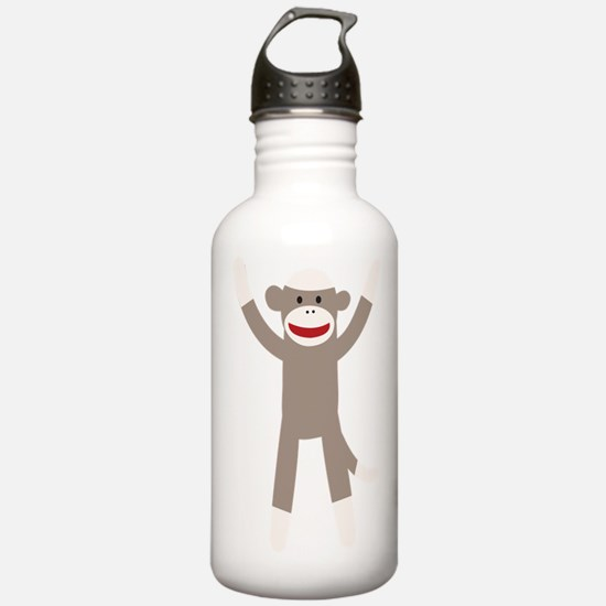 Excited Sock Monkey Water Bottle