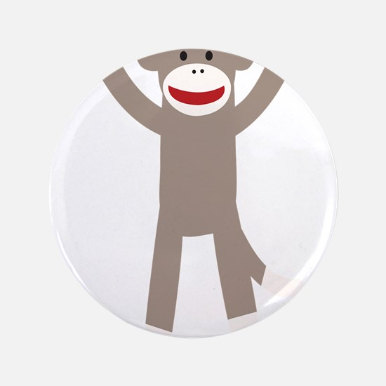 "Excited Sock Monkey 3.5"" Button (100 pack)"