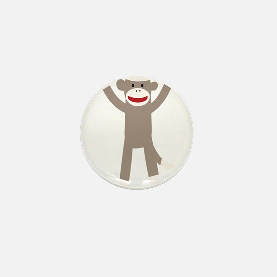 Excited Sock Monkey Mini Button