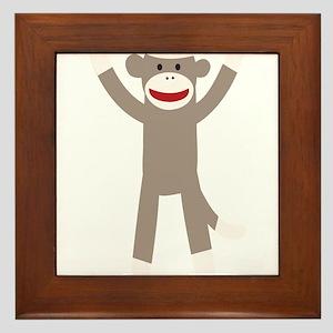 Excited Sock Monkey Framed Tile