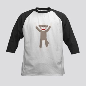 Excited Sock Monkey Kids Baseball Jersey