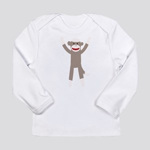 Excited Sock Monkey Long Sleeve Infant T-Shirt