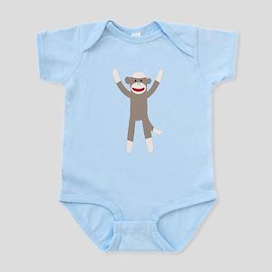 Excited Sock Monkey Infant Bodysuit