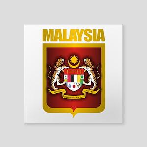 """Malaysia Gold Square Sticker 3"""" x 3"""""""
