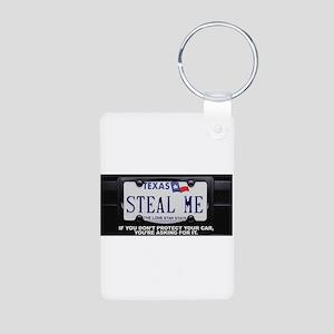 Steal Me Aluminum Photo Keychain