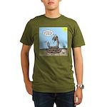 Rattlesnake Popularity Organic Men's T-Shirt (dark
