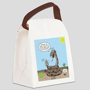 Rattlesnake Popularity Canvas Lunch Bag