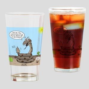 Rattlesnake Popularity Drinking Glass