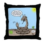 Rattlesnake Popularity Throw Pillow