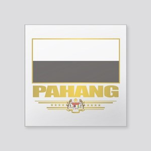 "Pahang (Flag 10)2 Square Sticker 3"" x 3"""
