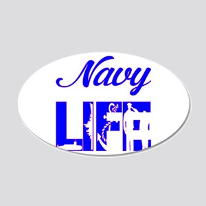 Navy Life 20x12 Oval Wall Decal