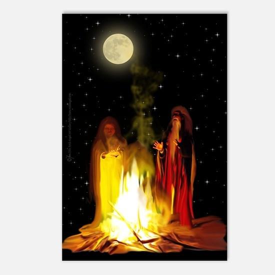 Samhain Bonfire Postcards (Package of 8)
