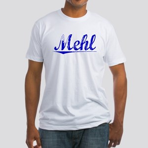 Mehl, Blue, Aged Fitted T-Shirt