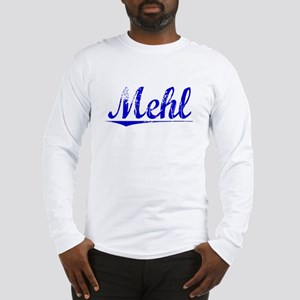 Mehl, Blue, Aged Long Sleeve T-Shirt