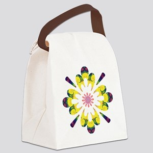 Omm Wow Flower Canvas Lunch Bag