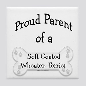 Wheaten Proud Parent Tile Coaster
