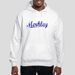 Merkley, Blue, Aged Hooded Sweatshirt