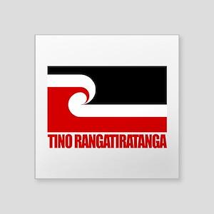 Maori Flag (Tino Rangatiratanga) Square Sticke