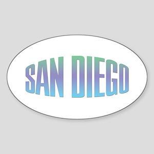 San Diego Oval Sticker