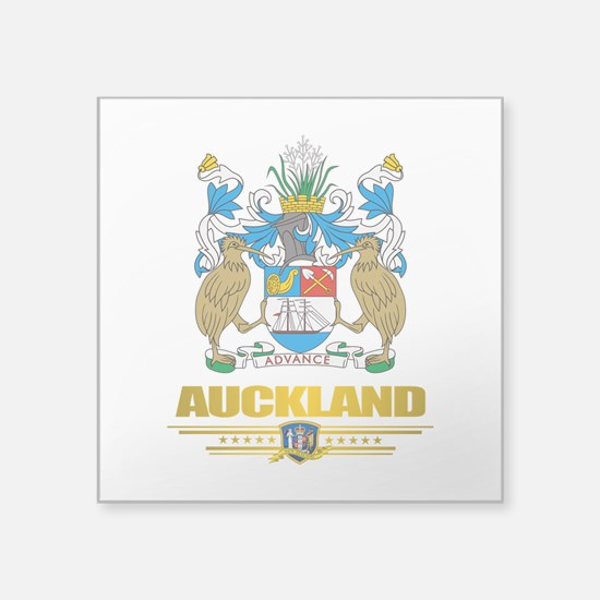 """Auckland (Flag 10)2.png Square Sticker 3"""" x 3"""""""