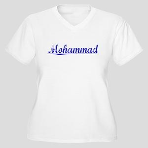 Mohammad, Blue, Aged Women's Plus Size V-Neck T-Sh