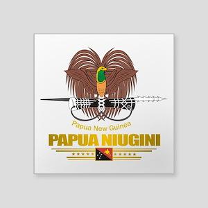 Papua New Guinea COA (Flag 10)2 Square Sticker