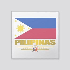 "Philippines (Flag 10) 2 Square Sticker 3"" x 3"""