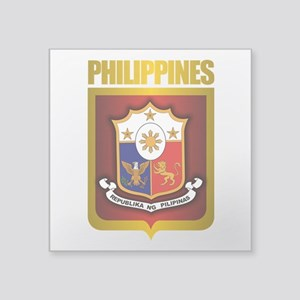 "Philippine Gold Square Sticker 3"" x 3"""
