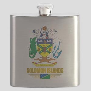 Solomon Islands COA (Flag 10)2 Flask