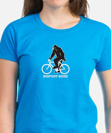 Bigfoot Rides Women's Dark T-Shirt