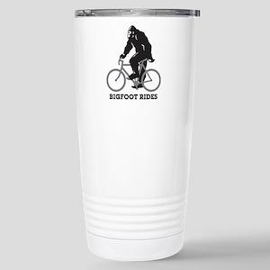 Bigfoot Rides Stainless Steel Travel Mug