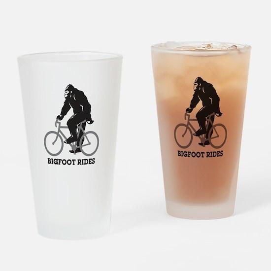 Bigfoot Rides Drinking Glass