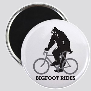 Bigfoot Rides Magnet