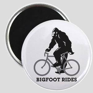 Bigfoot Rides Magnet