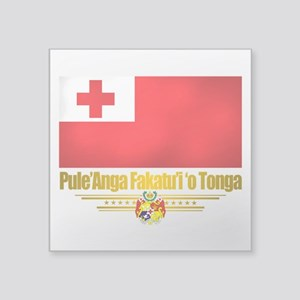 "Tonga (Flag 10)2 Square Sticker 3"" x 3"""