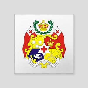 "Tonga COA Square Sticker 3"" x 3"""