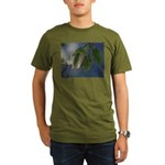 Reflected Light from the River Organic Men's T-Shi