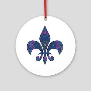 Alchemy Fleur De Lys Ornament (Round)