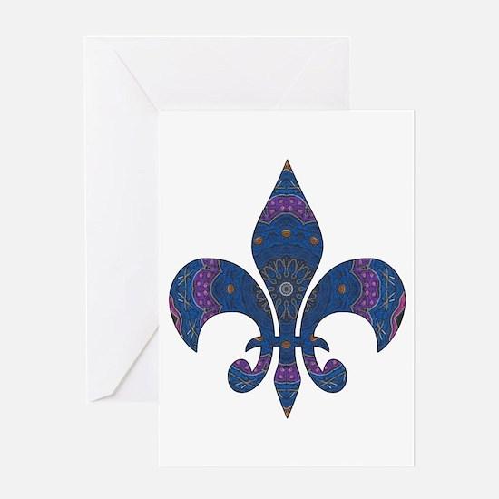 Alchemy Fleur De Lys Greeting Card