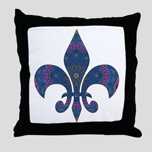 Alchemy Fleur De Lys Throw Pillow