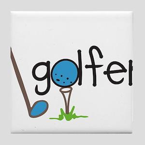 Golfer Tile Coaster