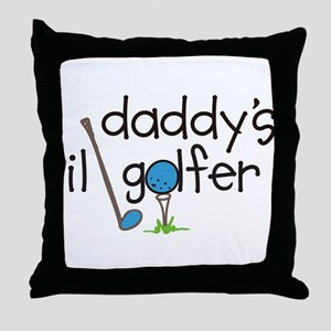 Daddys Lil Golfer Throw Pillow