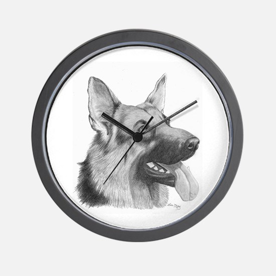 German Shepard Wall Clock