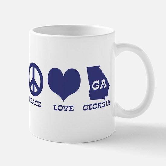 Peace Love Georgia Mug