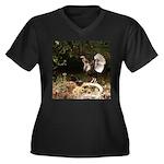 Wild Turkey Women's Plus Size V-Neck Dark T-Shirt