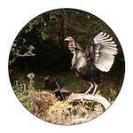 Wild Turkey Round Car Magnet