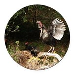 Wild Turkey Round Car Magnet