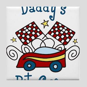 Daddys Pit Crew Tile Coaster