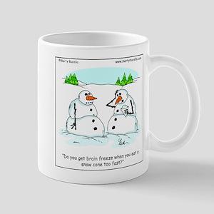 Snowman gets brain freeze Mug