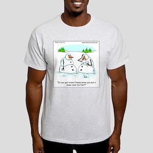 Snowman gets brain freeze Light T-Shirt